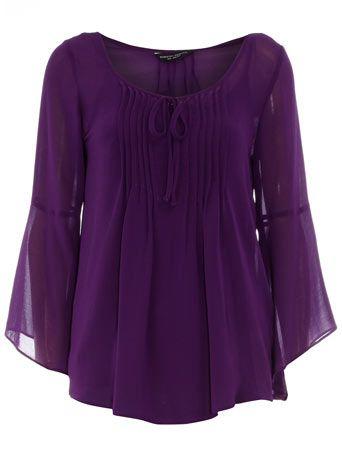 purple boho style shirt
