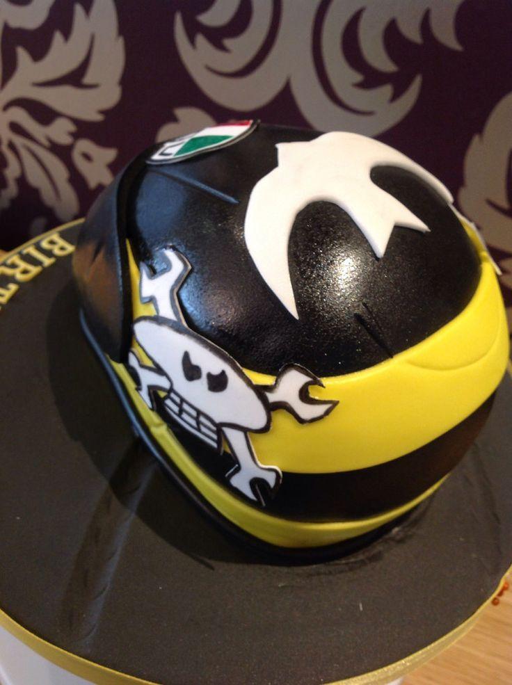 guy martin helmet cake