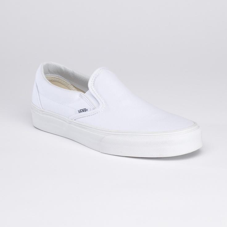 vans slip on - white