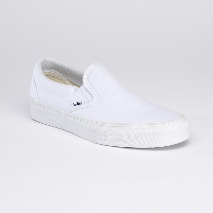 White Slip-On: perfect for painting.