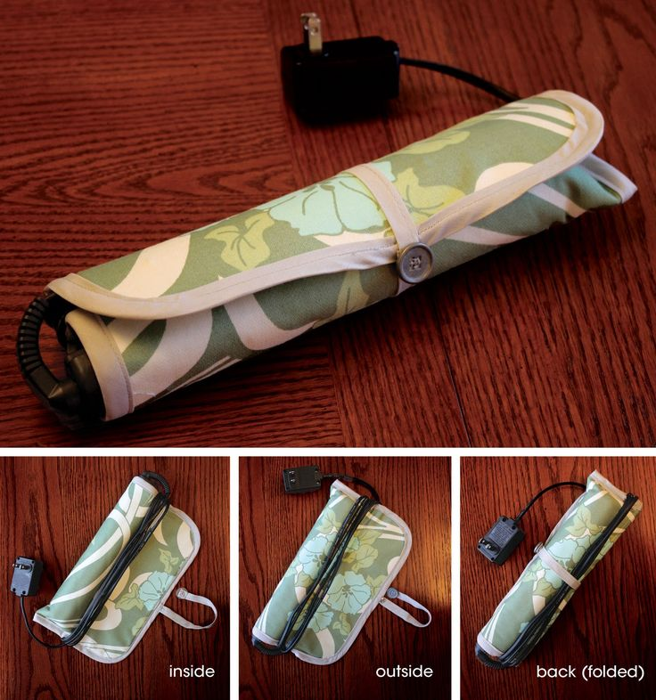 Tutorial: Flat Iron/Curling Iron Travel Case | Craft Buds  How did I live without this baby?