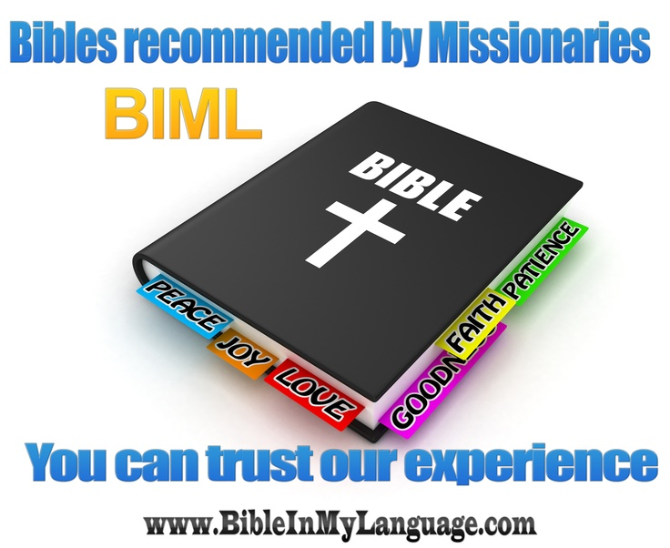 Bibles Recommended by Missionaries BIML / www.bibleinmylanguage.com