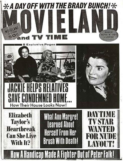 Movieland tabloid w/Grey Gardens story.
