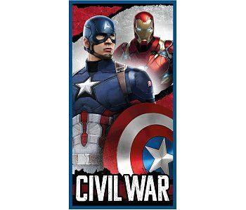 Marvel Avengers Strandlaken Civil War 70x140 cm