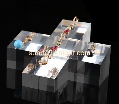 Acrylic products manufacturer customized plastic stud earring holder display stands JDK-329
