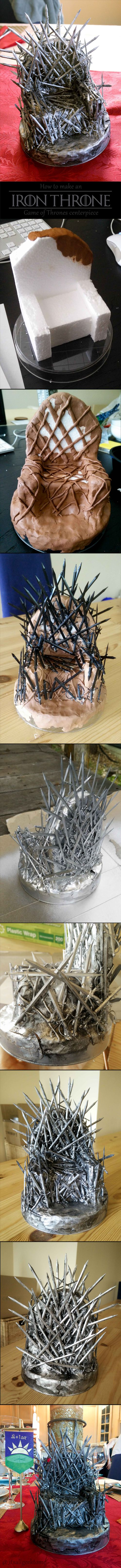 DIY Iron Throne Instructions - Centerpiece for a Game of Thrones party