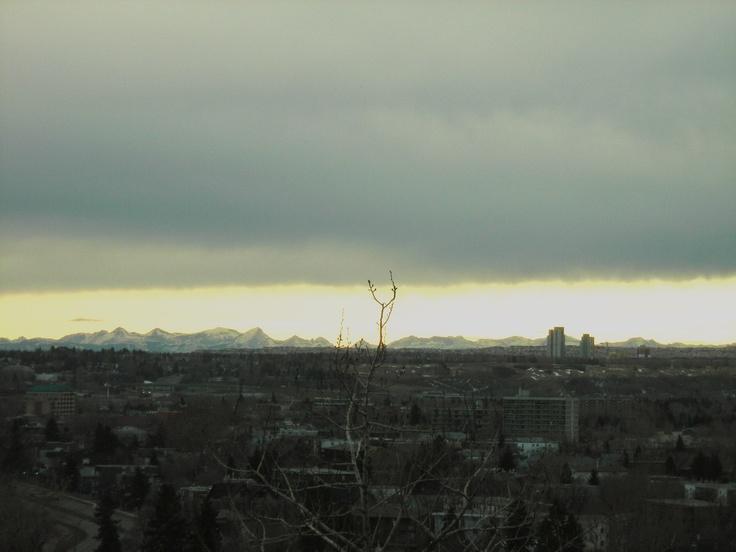 Chinook Arch over Calgary  Calgary AB