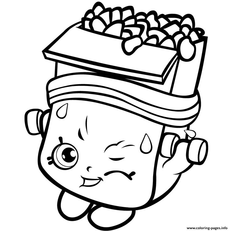 Print Shopkins Season 1 Of Strong Coloring Pages