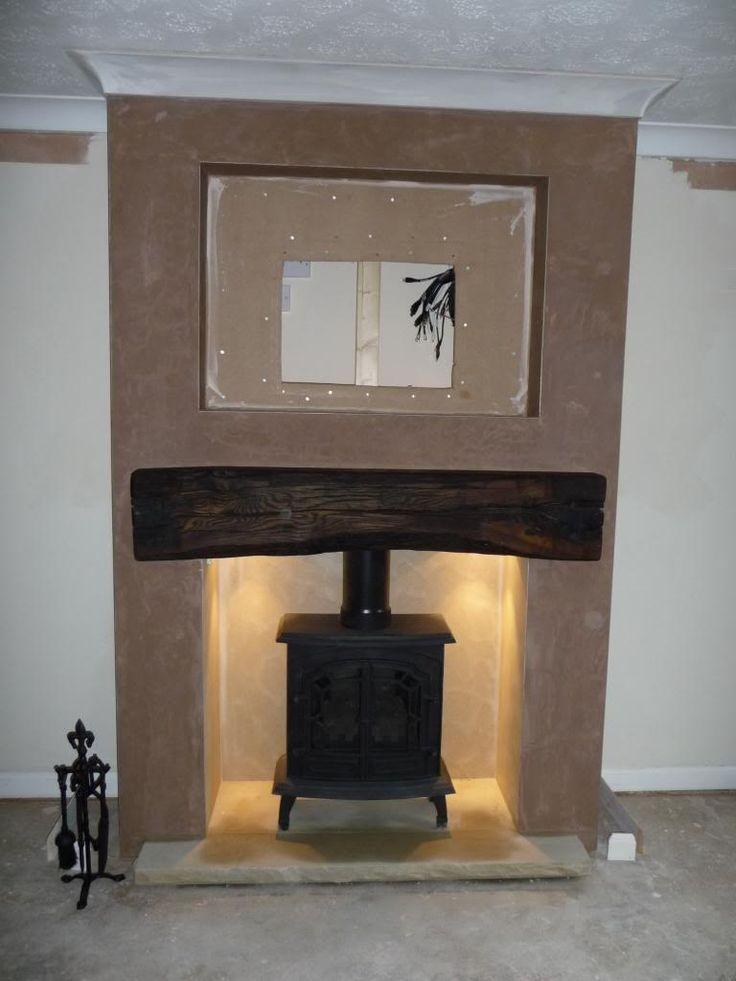Image result for tv on chimney breast ideas
