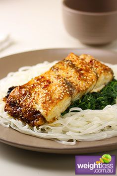 Asian Style Baked Fish. #HealthyRecipes #DietRecipes #WeightLossRecipes weightloss.com.au