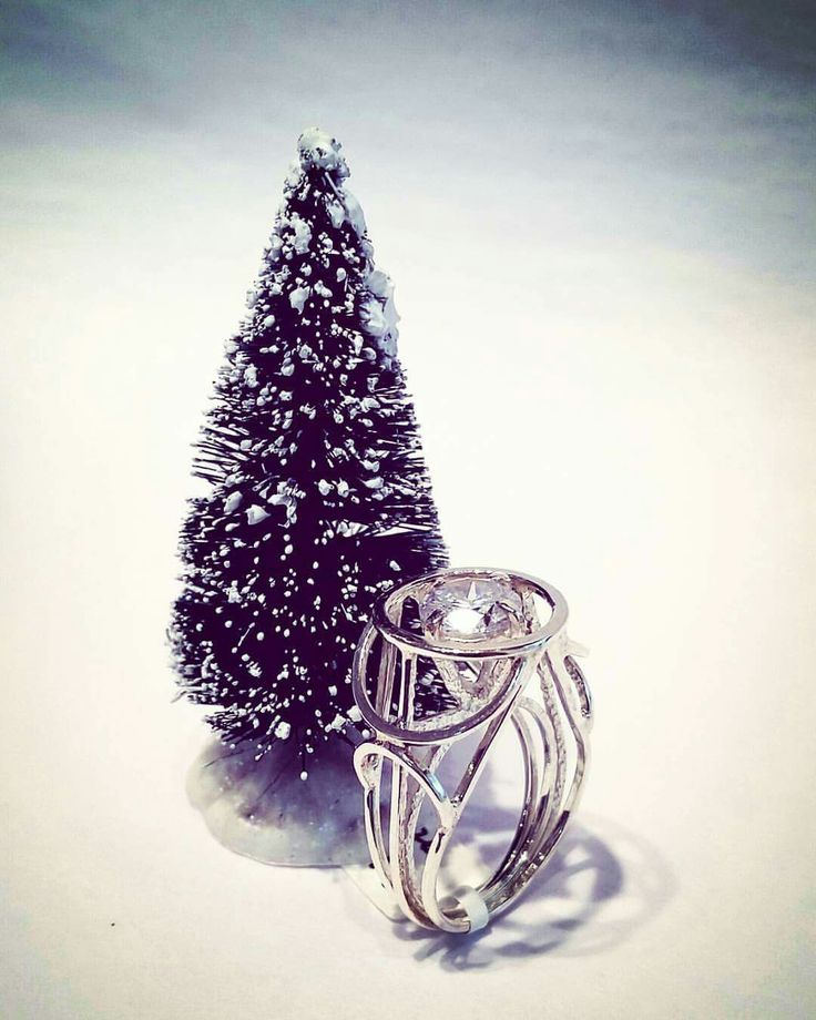 Is this bling too big? (Tree not to scale). Cubic zircon set in sterling silver.