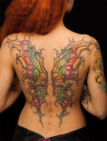 Types of Wing Tattoos:Demon, angel,fairy and butterfly