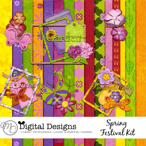 Spring Festival Digital Scrapbook Kit by MC by MCDigitaldesigns, $5.99