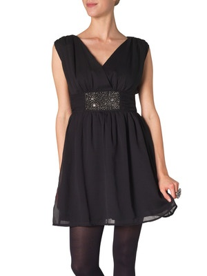 WP - AYA JOSSE DRESS EX1, BLACK