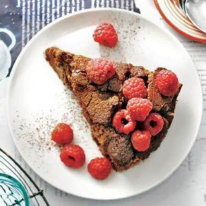 Recept - Chococheesecake met frambozen - Allerhande