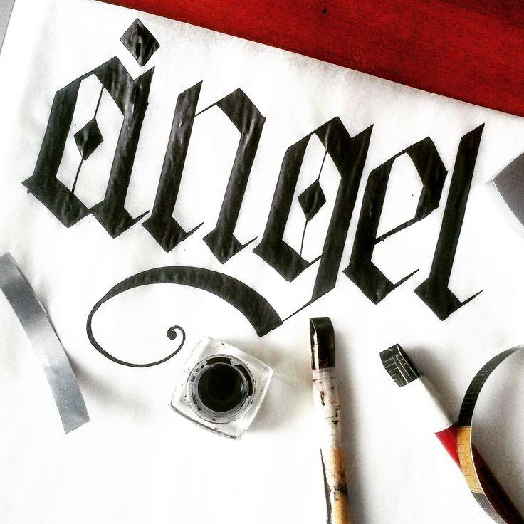 Creando mis propias plumas planas para letra Gótica! -Leonardo García Caligrafía-