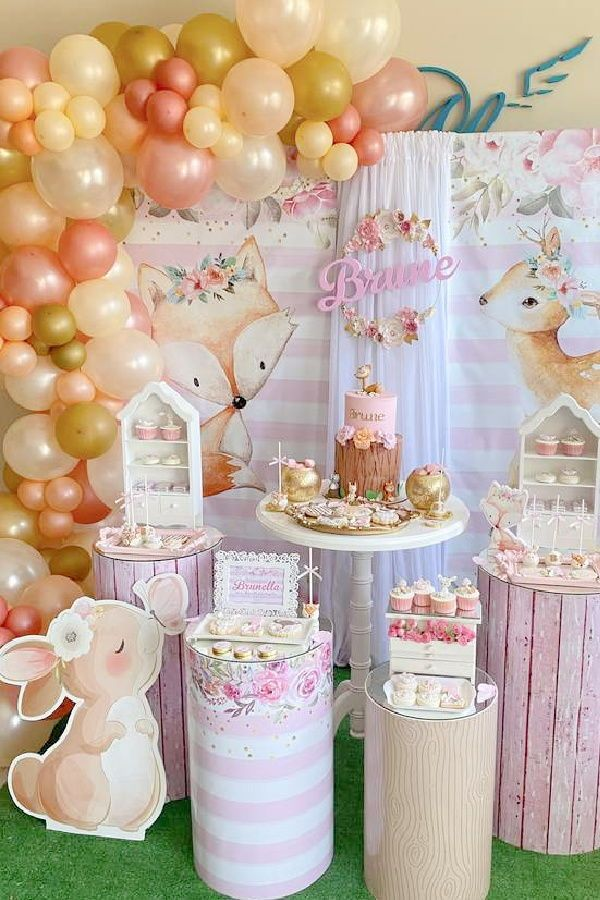 Woodland Birthday Party Ideas Photo 1 Of 8 In 2021 Rustic Birthday Parties Woodland Birthday Party Woodland Birthday Decorations