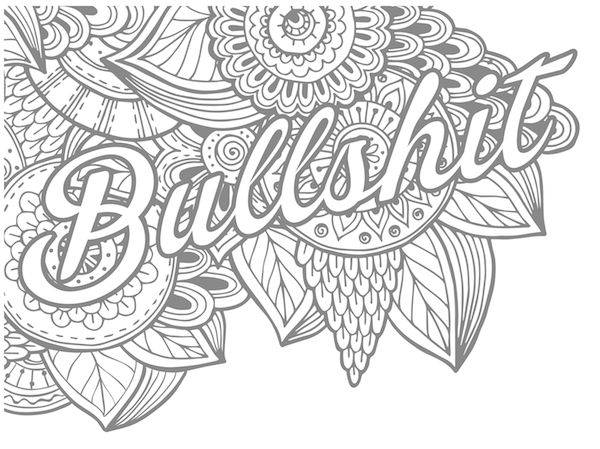 bullshit sweary coloring book - Dirty Coloring Books