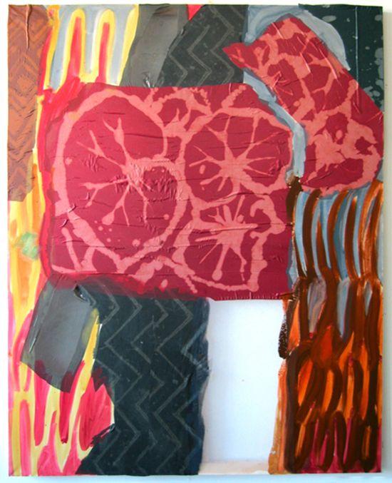 Lauren Luloff--love her oil paintings on sheets