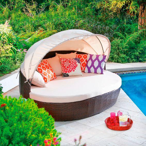 Este original sillón con base redonda, lo elegimos para que disfrutes un toque de creatividad.  #Primavera  #Verano #Deco #Terraza #Piscina #Muebles #Airelibre #Hogar #Easytienda #Tiendaeasy