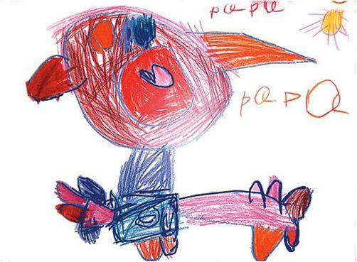 Resultado de imagen de dibujos hechos por niños 3 años