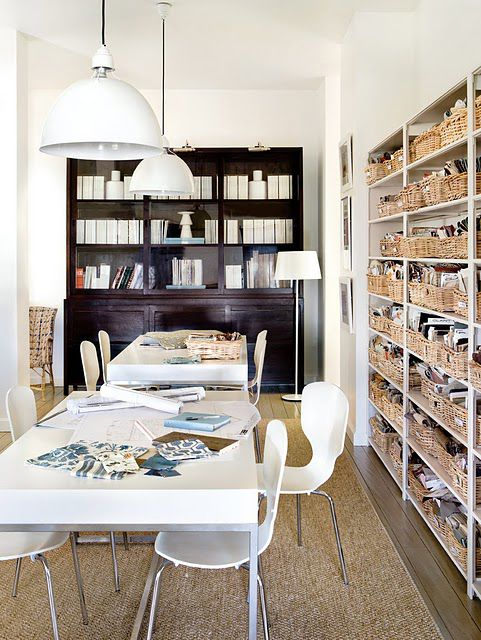Love the shelves and baskets