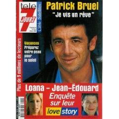 """Patrick Bruel : """"Je vis un rêve"""", dans Télé 7 jours (n°2142) du 16/06/2001 [Couverture isolée + article de 2 pages mis en vente par Presse-Mémoire]"""