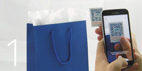 Scan the QR sticker and start making your personal,  digital greeting card.