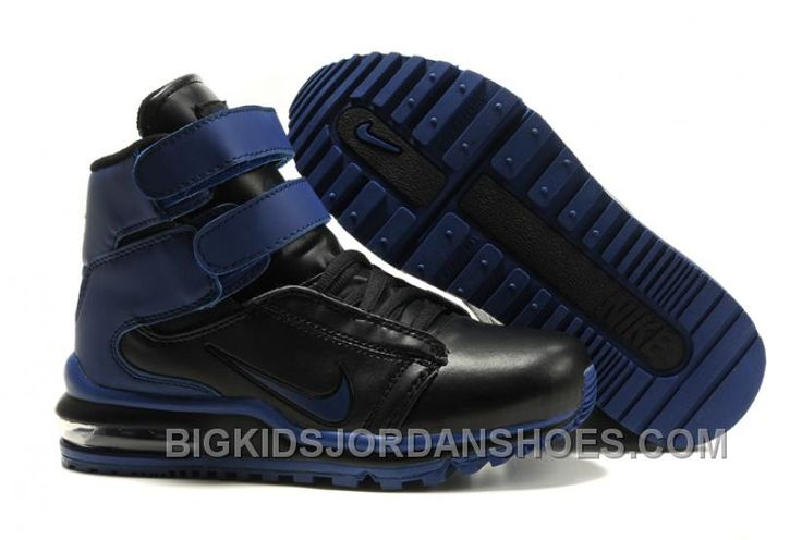 http://www.bigkidsjordanshoes.com/new-kids-nike-tk-society-air-max-blue-black.html NEW KIDS NIKE TK SOCIETY AIR MAX BLUE BLACK Only $75.56 , Free Shipping!