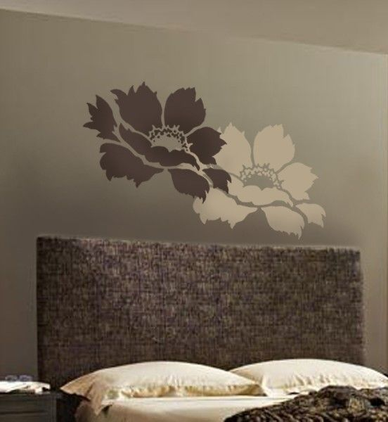 flower stencil tree peony lg stencils for diy wall decor - Design Stencils For Walls