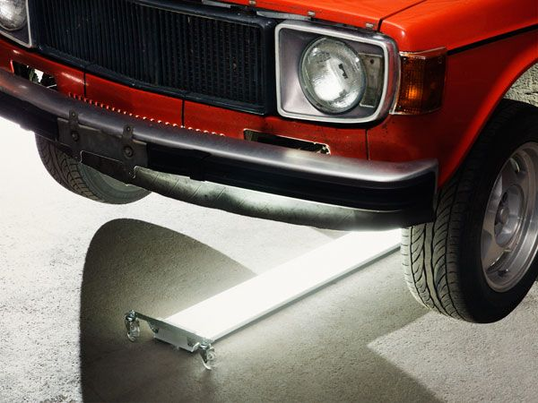 Build your own rolling light to see what's happening under your car