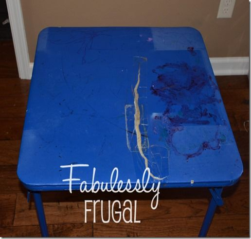 Learn how to redo your kid's folding table with this quick and easy tutorial.