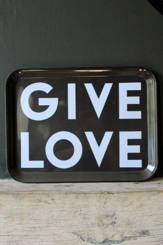 Give Love Melamine Tray