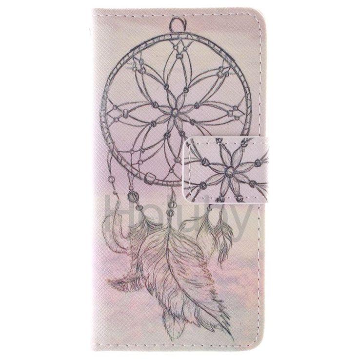 Quermuster Wallet Magnetic Schlag-Standplatz TPU   PU-Leder Tasche für iPhone 5S 5 Wind Chime