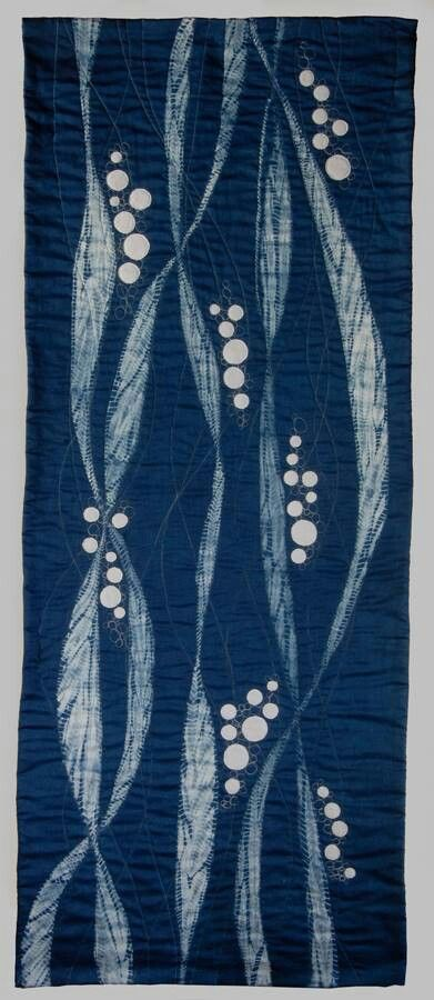 Nautilus fiber arts: shibori, indigo dyed