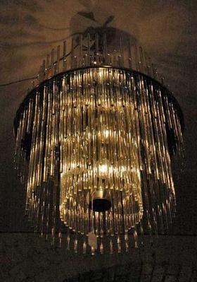 mid century glass chandelier