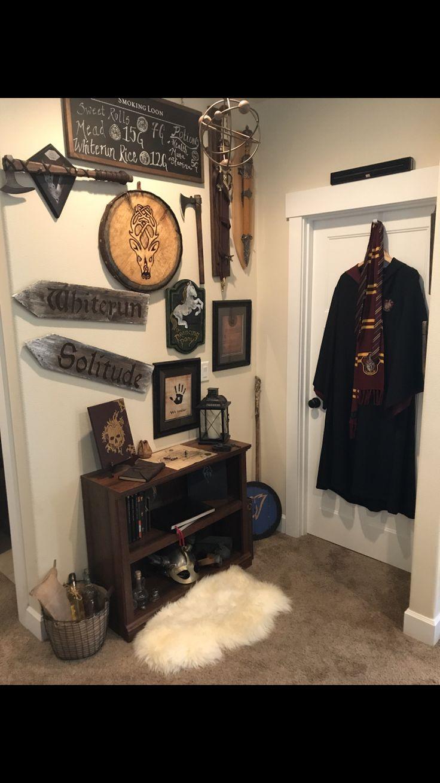 My skyrim + game room decor