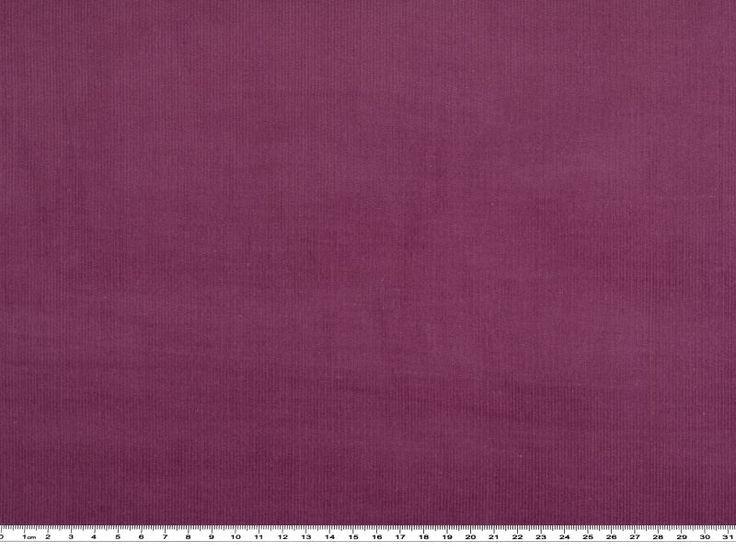 Velluto a coste fine, in tinta unita, viola, alt. 150cm 100% cotone, 14 coste per 2,5cm
