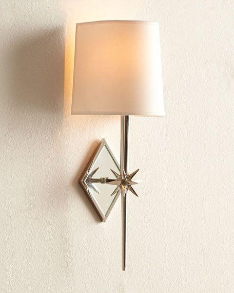 Visual Comfort Etoile Polished-Nickel Sconce