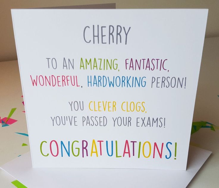 PERSONALISED Handmade Congratulations You ve Passed Exams GCSEs Alevels Card CC