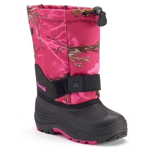 Kamik Rocket2 Realtree Camo Girls' Waterproof Winter Boots