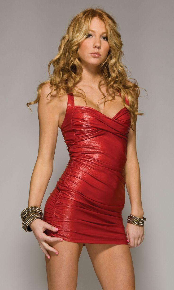 sexy blonde in clubwear