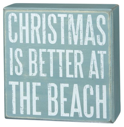 Christmas At The Beach Box Sign