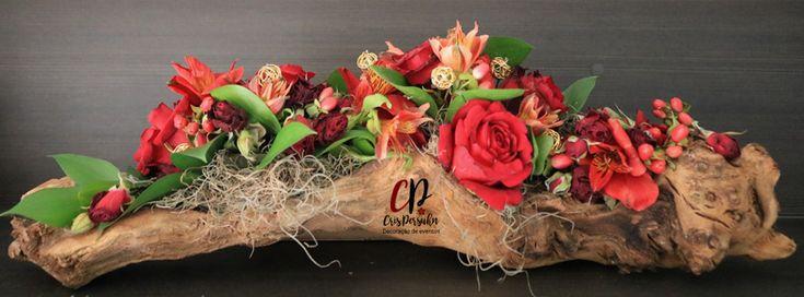 Cachepot com arranjo floral para enfeitar sua casa