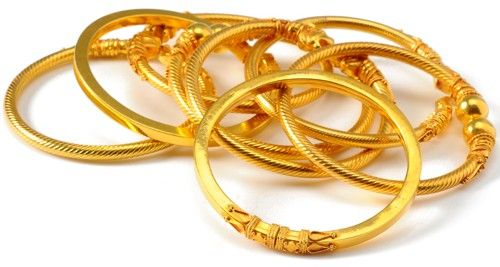 Indian gold bangles for babies -- true baby bling!