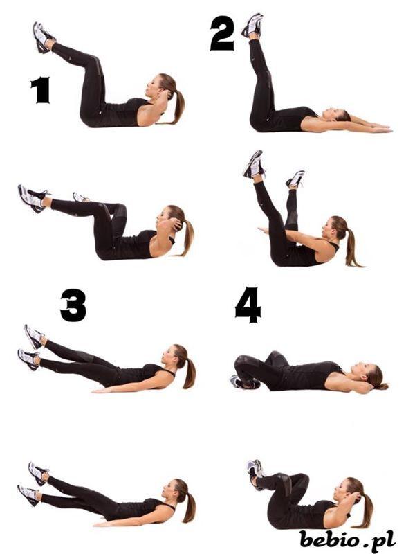 Każde ćwiczenie wykonaj po 20 powtórzeń