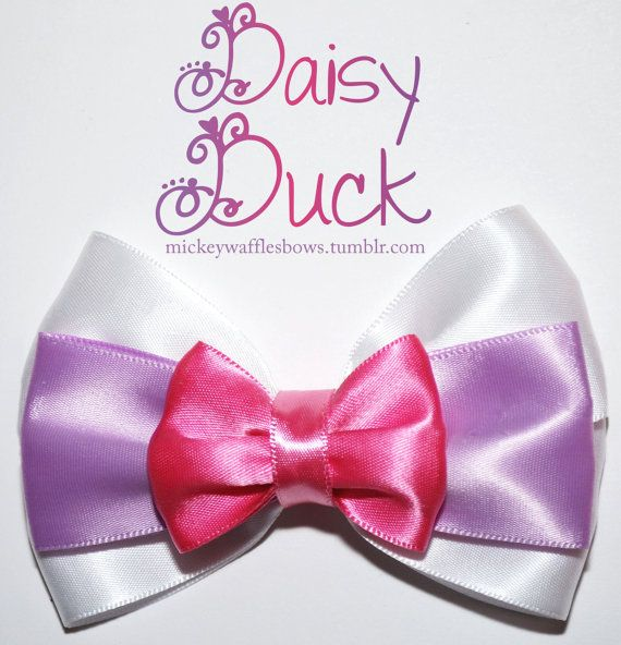 Daisy Duck Hair Bow by MickeyWaffles on Etsy, $7.00
