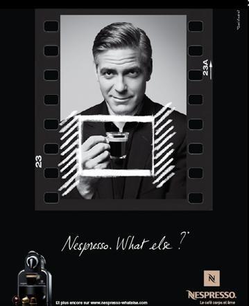 C'est plutôt à la télé .. une des pubs Nespresso 2009 ... Georges et ...