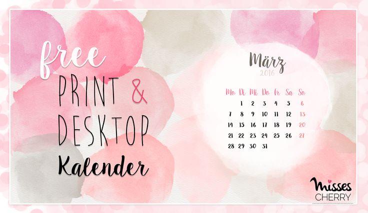 Misses Cherry: Print & Desktop Kalender