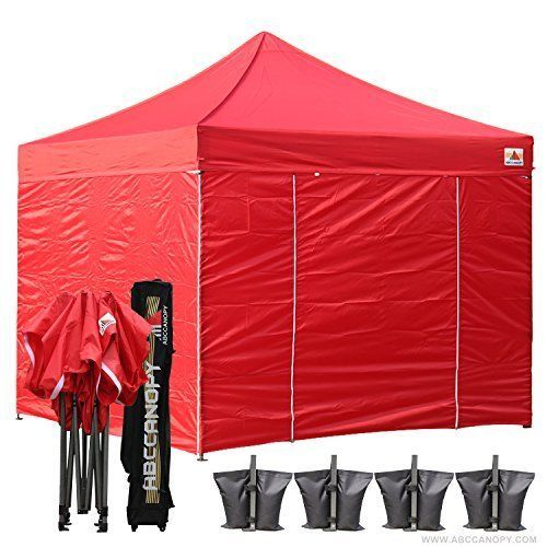 New 10-feet By 10-feet Festival Steel Instant Canopy w/Wheeled Storage Bag Yard #abccanopy